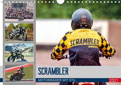 Scrambler Motorräder mit Stil (Wandkalender 2021 DIN A4 quer) von Franko,  Peter