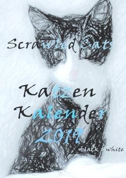 Scrawled Cats – black & white – Katzen Kalender 2019 von Müller,  Daniela