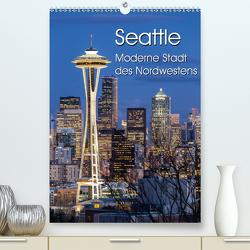 Seattle – Moderne Stadt des Nordwestens (Premium, hochwertiger DIN A2 Wandkalender 2021, Kunstdruck in Hochglanz) von Klinder,  Thomas