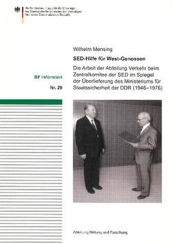 SED-Hilfe für West-Genossen von Mensing,  Wilhelm