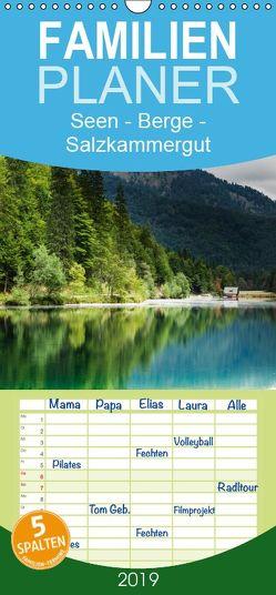 Seen – Berge – Salzkammergut – Familienplaner hoch (Wandkalender 2019 , 21 cm x 45 cm, hoch) von Hauer,  Hannelore
