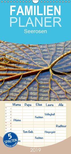 Seerosen 2019 – Familienplaner hoch (Wandkalender 2019 , 21 cm x 45 cm, hoch) von Geduldig,  Bildagentur