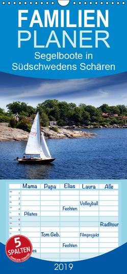 Segelboote in Südschwedens Schären – Familienplaner hoch (Wandkalender 2019 , 21 cm x 45 cm, hoch) von K.Schulz,  Eckhard