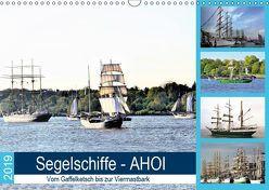 Segelschiffe – AHOI. Vom Gaffelketsch bis zur Viermastbark (Wandkalender 2019 DIN A3 quer) von Klünder,  Günther