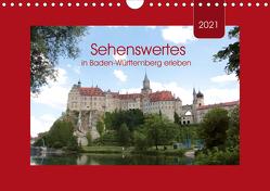 Sehenswertes in Baden-Württemberg erleben (Wandkalender 2021 DIN A4 quer) von Keller,  Angelika
