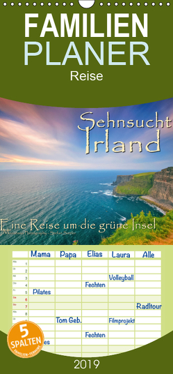 Sehnsucht Irland – Éire – Familienplaner hoch (Wandkalender 2019 , 21 cm x 45 cm, hoch) von Sattler,  Stefan