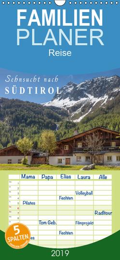 Sehnsucht nach Südtirol – Familienplaner hoch (Wandkalender 2019 , 21 cm x 45 cm, hoch) von Mueringer,  Christian