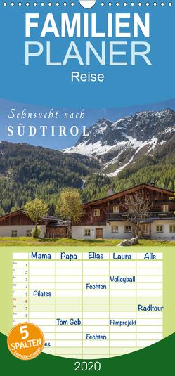 Sehnsucht nach Südtirol – Familienplaner hoch (Wandkalender 2020 , 21 cm x 45 cm, hoch) von Mueringer,  Christian