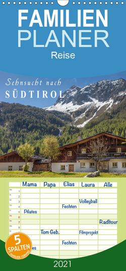 Sehnsucht nach Südtirol – Familienplaner hoch (Wandkalender 2021 , 21 cm x 45 cm, hoch) von Mueringer,  Christian