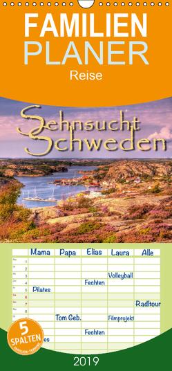 Sehnsucht Schweden – Sverige – Familienplaner hoch (Wandkalender 2019 , 21 cm x 45 cm, hoch) von Sattler,  Stefan