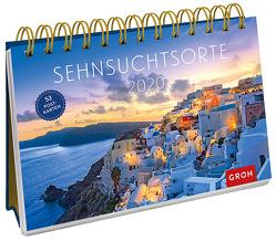 Sehnsuchtsorte 2020: Postkarten-Kalender mit separatem Wochenkalendarium von Groh Redaktionsteam