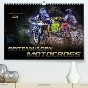 Seitenwagen Motocross (Premium, hochwertiger DIN A2 Wandkalender 2021, Kunstdruck in Hochglanz) von Roder,  Peter