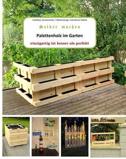 Palettenholz im Garten von Luka GmbH