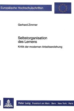 Selbstorganisation des Lernens von Zimmer,  Gerhard