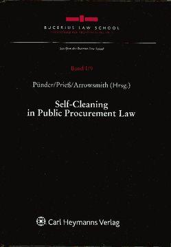 Self-Cleaning in Public Procurement Law von Arrowsmith,  Sue, Prieß,  Hans-Joachim, Pünder,  Hermann