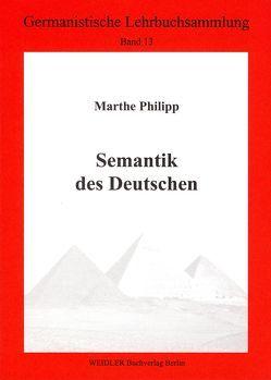 Semantik des Deutschen von Philipp,  Marthe, Roloff,  Hans G