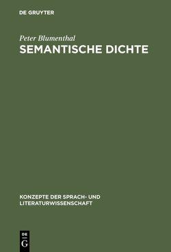 Semantische Dichte von Blumenthal,  Peter
