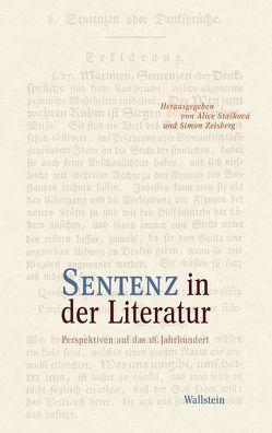 Sentenz in der Literatur von Stašková,  Alice, Zeisberg,  Simon