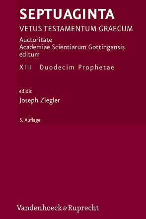 Septuaginta. Band 13 von Albrecht,  Felix, Ziegler,  Joseph