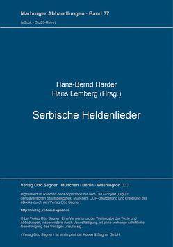 Serbische Heldenlieder von Harder,  Hans-Bernd, Lemberg,  Hans