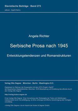 Serbische Prosa nach 1945 von Richter,  Angela
