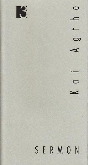 Jahresgabe der Literarischen Gesellschaft / Sermon von Agthe,  Kai, Mania,  Sibylle