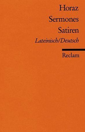 Sermones /Satiren von Buchner,  Karl, Horaz