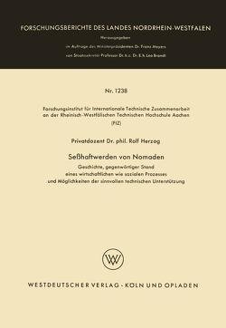 Seßhaftwerden von Nomaden von Herzog,  Rolf