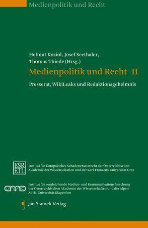 Set-Medienpolitik und Recht Band I und II von Koziol,  Helmut, Seethaler,  Josef, Thiede,  Thomas