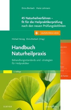 Set Naturheilverfahren für die Heilpraktikerprüfung von Bierbach,  Elvira, Herzog,  Michael