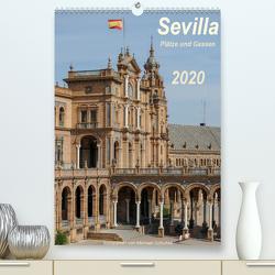 Sevilla, Plätze und Gassen 2020AT-Version (Premium, hochwertiger DIN A2 Wandkalender 2020, Kunstdruck in Hochglanz) von Schultes,  Michael
