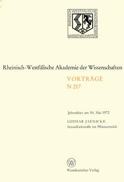 Sexuallockstoffe im Pflanzenreich von Jaenicke,  Lothar