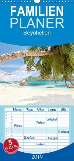 Seychellen – Familienplaner hoch (Wandkalender 2019 , 21 cm x 45 cm, hoch) von Sturm,  Jenny