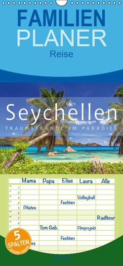Seychellen Traumstrände im Paradies – Familienplaner hoch (Wandkalender 2019 , 21 cm x 45 cm, hoch) von Rosyk,  Patrick