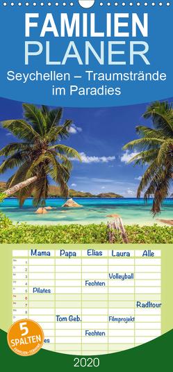 Seychellen – Traumstrände im Paradies – Familienplaner hoch (Wandkalender 2020 , 21 cm x 45 cm, hoch) von Rosyk,  Patrick