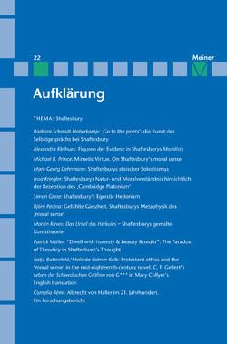 Shaftesbury von Kreimendahl,  Lothar, Mulsow,  Martin, Neugebauer-Wölk,  Monika, Vollhardt,  Friedrich