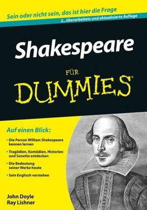 Shakespeare für Dummies von Doyle,  John, Lischner,  Ray