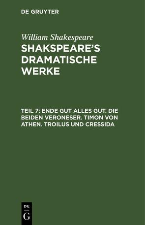 Shakspeare's dramatische Werke von Schlegel,  August Wilhelm, Shakespeare,  William, Tieck,  Ludwig