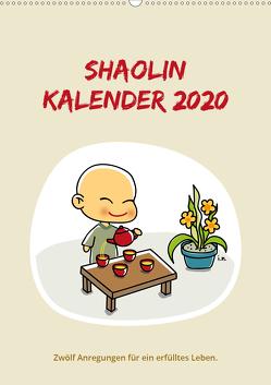 Shaolin Kalender 2020 (Wandkalender 2020 DIN A2 hoch) von Moestl (Texte),  Bernhard, Nemeth (Illustrationen),  Irene