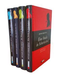 Sherlock Holmes (vier Romane) – Eine Studie in Scharlachrot – Der Hund der Baskervilles – Das Zeichen der Vier – Das Tal der Angst von Doyle,  Arthur Conan