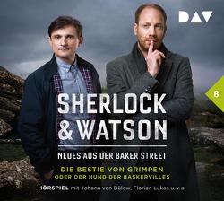 Sherlock & Watson – Neues aus der Baker Street: Die Bestie von Grimpen oder Der Hund der Baskervilles (Fall 8) von Bülow,  Johann von, Jordan,  Peter, Koppelmann,  Viviane, Lukas,  Florian, u.v.a.
