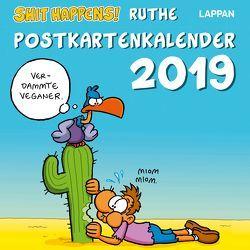 Shit Happens Postkartenkalender 2019 von Ruthe,  Ralph