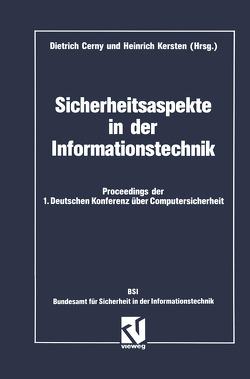 Sicherheitsaspekte in der Informationstechnik von Cerny,  Dietrich