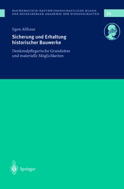 Sicherung und Erhaltung historischer Bauwerke von Althaus,  E.