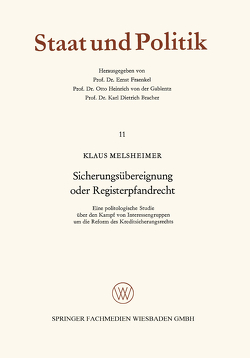 Sicherungsübereignung oder Registerpfandrecht von Melsheimer,  Klaus