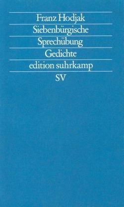 Siebenbürgische Sprechübung von Hodjak,  Franz, Söllner,  Werner