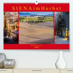 Siena im Herbst (Premium, hochwertiger DIN A2 Wandkalender 2020, Kunstdruck in Hochglanz) von Caccia,  Enrico