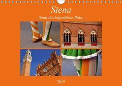 Siena – Stadt des legendären Palio (Wandkalender 2019 DIN A4 quer) von Thauwald,  Pia