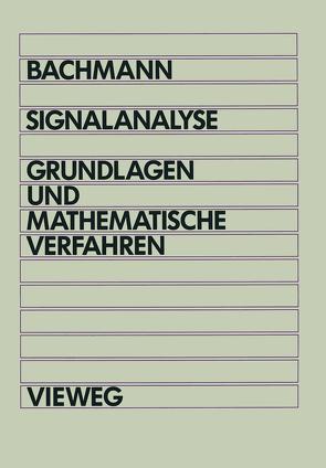 Signalanalyse von Bachmann,  Wolfgang