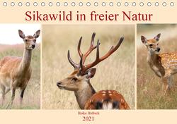 Sikawild in freier Natur (Tischkalender 2021 DIN A5 quer) von Hultsch,  Heike